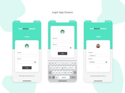 Login App Screens