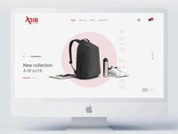 Abir Store website design