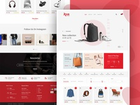 Abir Store website mockup