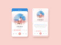Music Player Mobile App ux music player ui music player app figma app design music player music mobile ui uidesign ui mobile app mobile app