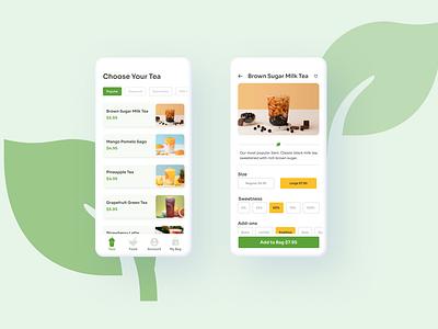 Bubble Tea Mobile App Concept checkout visual bubbletea boba mobileui mobileapp mobile uiux uxui uidesign design ui