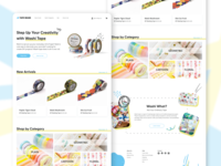 Japanese Masking Tape Shop Landing Page design uidesign website web design ux uiux ui landing page interface homepage figma ecommerce desktop daily ui concept design concept