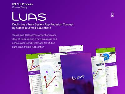 UX Process - Dublin Luas Tram app Redesign Concept user stories personas usability uxui design ireland transport public transportation redesign concept ux process tram dublin luas