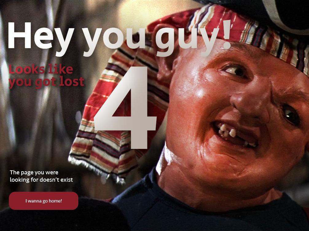 404 Error Sloth sloth goonies error page 404 error