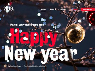 New year website concept newyears 2019 website concept newyear
