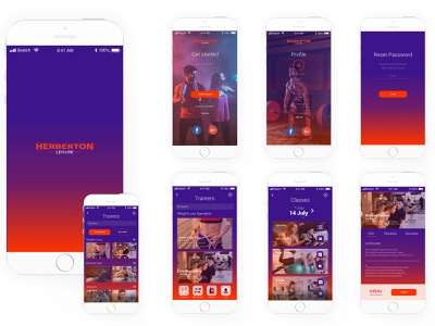 Herberton Leisure - UX case of study graphic  design dublin uxuidesign uxui ux challenge ux design ux gym app gym