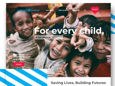 UNICEF website concept