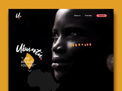 Ubuntu, landing page (Non-governmental organization)