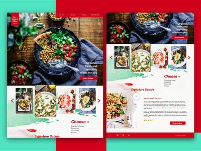 The Green Olive - restaurant web concept ux design logo design uipractice redesign branding concept responsive layout web foodporn dayliui uiuxdesign uidesign food restaurant