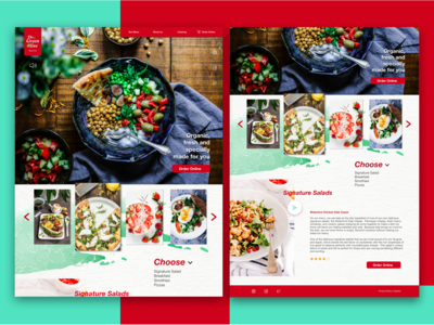 The Green Olive - restaurant web concept
