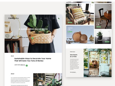 Casa Rustica, a sustainable decor store interiordesign casa sustainable uxuidesign uipractice dublin web dayliui ui bold website onlinestore cleandesign furniture decor