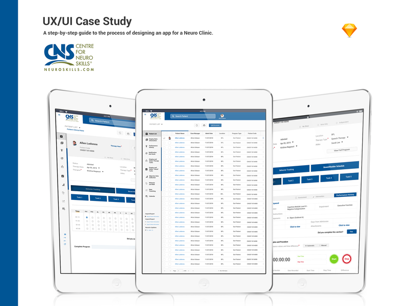 Clinical Notes UXUI - Case of Study design app design user interface design tablet app therapy clininc uidesign uxdesign