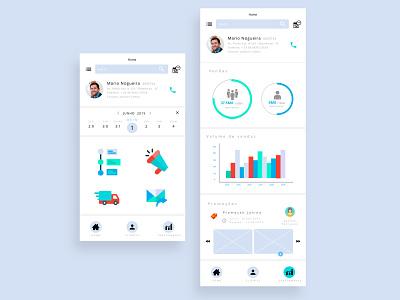 Sale tracking app uxuidesign app design dayliui wireframe prototype tracking sale
