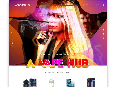 A Vape Hub website