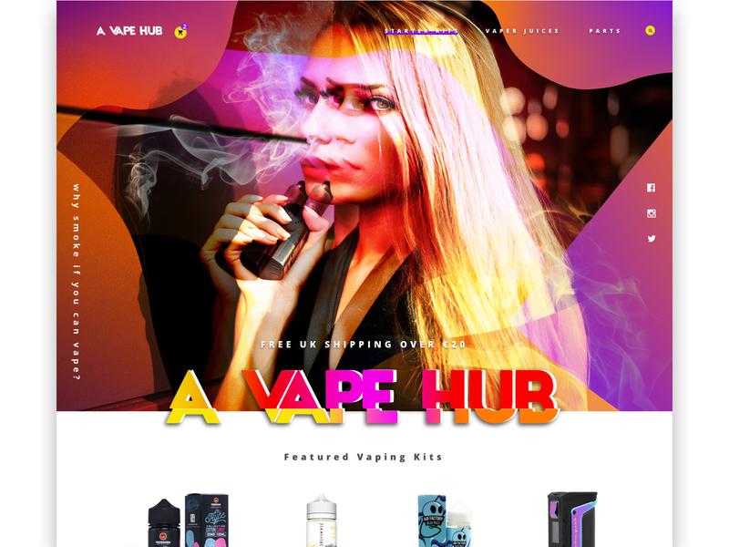 A Vape Hub website logo bold design design dublin uxuidesign uipractice dailyui web vapewebsite vape