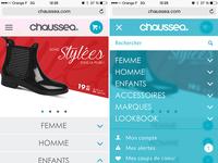 Mobile version menu - chaussea.com