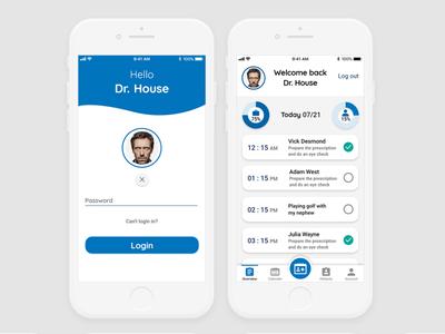 Doctor appoitment app - Login & Overview