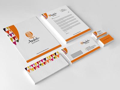 Ambolo Editorial Logo and Stationary branding design logo