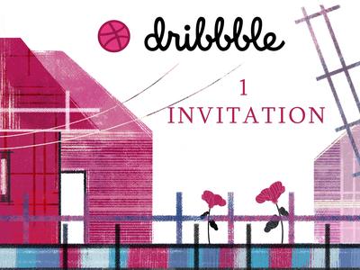 Dribbble giveaway invitation