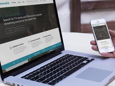 Sourceful Website responsive homepage web interface ui web design