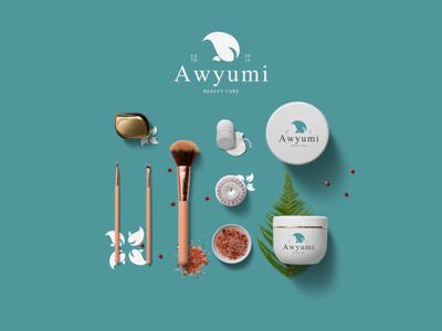 Redesign Logo Awyumi cosmetic logotype branding logo design typography logo design lettering
