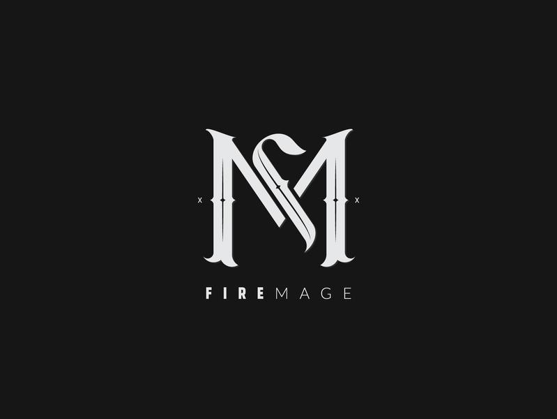 Monogram Design. Fire Mage logo design challenge logo design branding illustration lettermark design lettering logo logotype typography monogramlogo monogram
