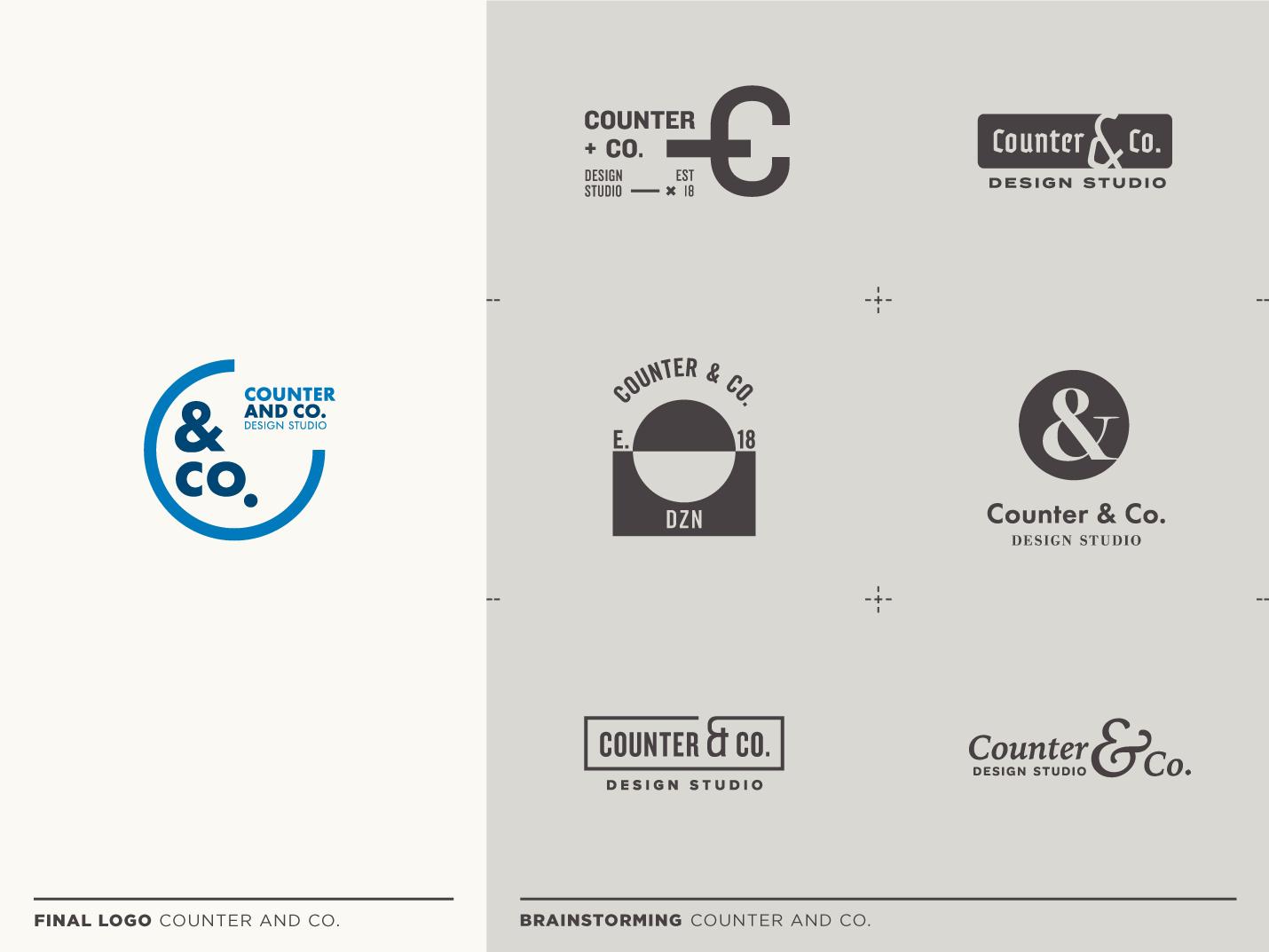 Counter & Co. logo design brand identity type vector branding flat typography logo design