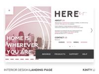 Interior Design Landing Page Concept Photo
