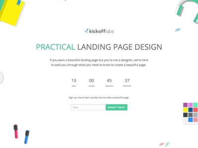 Practical Landing Page Design free training design training landing page minimalistic clean