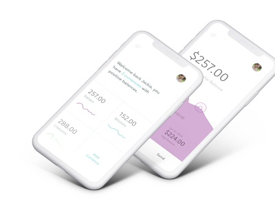 Multi-currency financial app app product finance app design product design