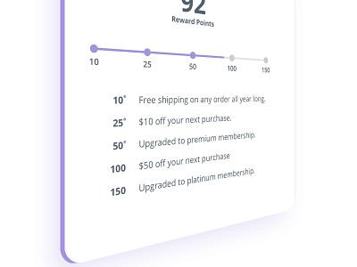 Rewards Program webdesign thank you page reward counter rewards product design landing page