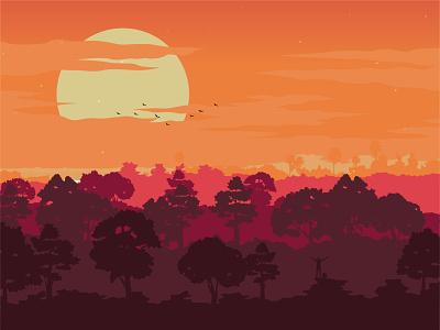Freeman landscape flat vector minimalist minimalism maranestudios marane hamydkahn illustration