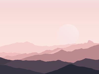 Mountains marane maranestudios minimalism minimalist hamydkahn landscape design vector illustration