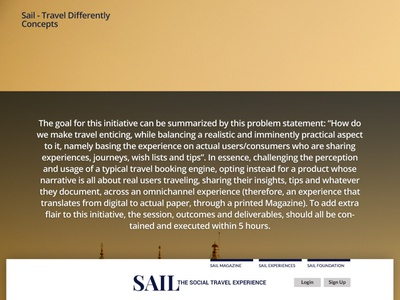 SAIL Travel App Concepts website flexible ui design application travel mobile responsive interactive ux