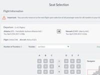 Seat Selection Feature