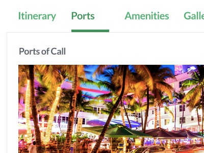 Cruise Booking Details - Mobile Responsive Views imagery fonts themes currency desktop mobile responsive localization web ux interactive