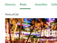 Cruise Booking Details - Mobile Responsive Views