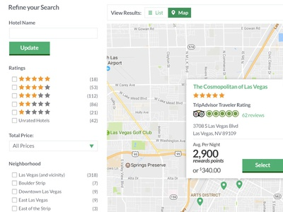 Search Results Location Based ux design ui ux application desktop ota mobile travel responsive interactive