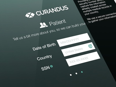 Curandus Healthcare mobile ui ui design ux user experience ios healthcare application native