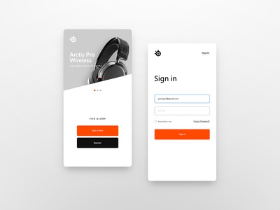 Mobile Login Screen UI Design