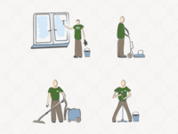 Cleaning illustrations