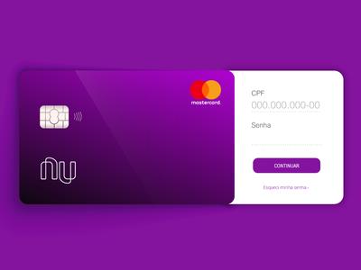 Daily UI Challenge #001 - Login login design ui  ux design credit card nubank day 1 100 daily ui daily daily 100 dailyui 001 dailyui