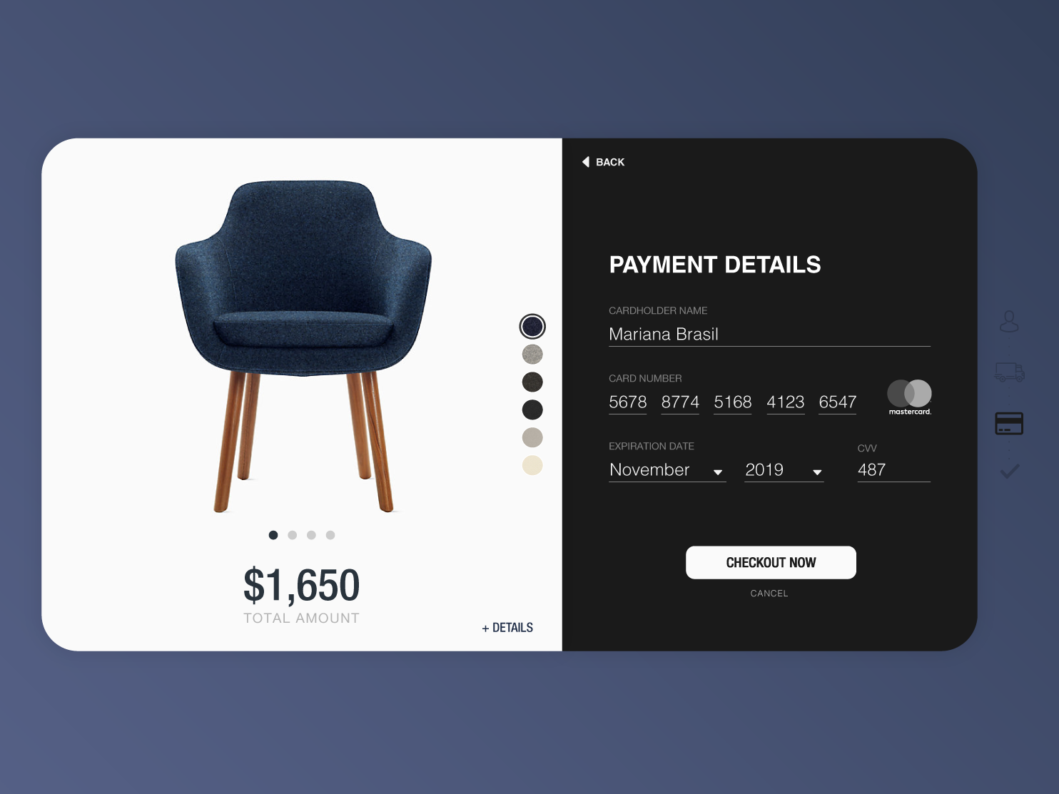 Daily UI Challenge #002 - Credit Card Checkout ui  ux design day 1 design dailyui 001 daily dailyui daily 100 100 daily ui ui check out credit card checkout credit card