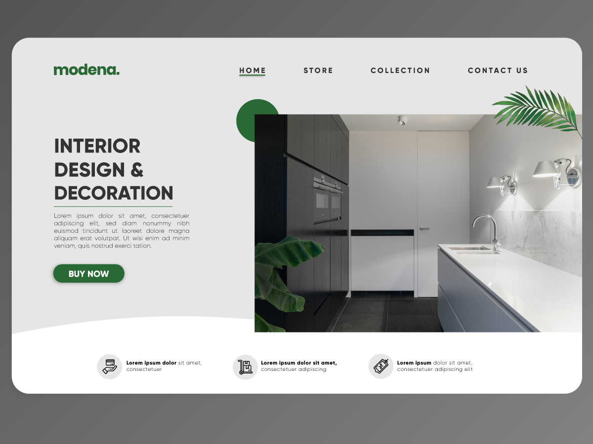 Daily UI Challenge #003 - Landing Page interior design architecture design landing page day 3 dailyui daily 100 daily 100 daily ui