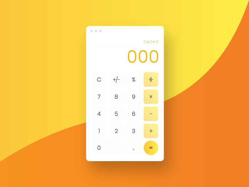 Daily UI Challenge #004 - Calculator ui  ux design day 004 orange yellow calculator day 4 design dailyui daily 100 daily 100 daily ui