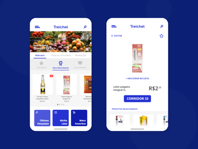 Supermarket App blue user interface ui  ux design design uidesign ux ui grocery app grocery supermarket