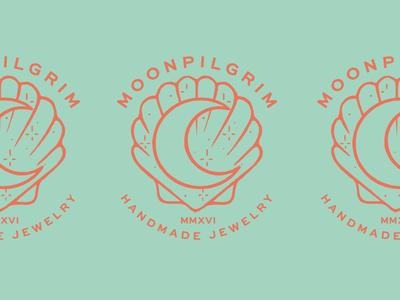 Moonpilgrim 01 brand brand identity shell moon jewelry logotype stamp typography lettering illustration branding logo lockup