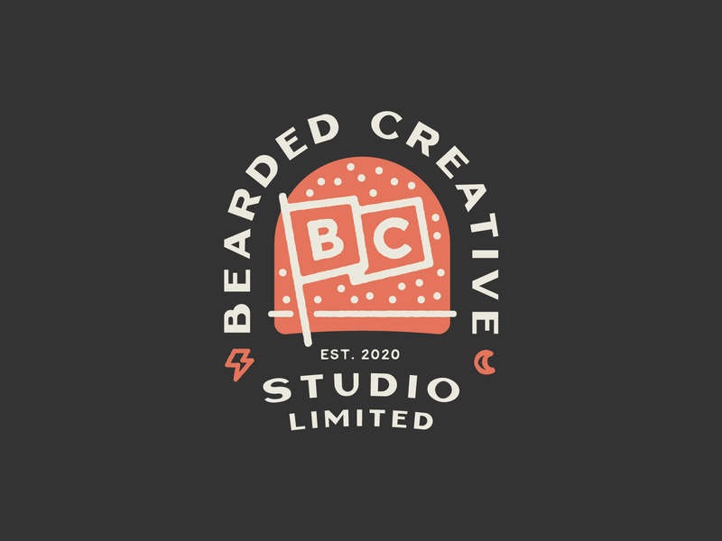 Bearded Creative Studio badge colour flag illustration typography lettering brand identity branding badge logo badgedesign badge