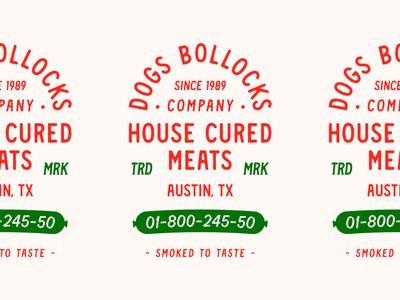 Dogs Bollocks brand identity badgedesign typography lettering lockup badge branding meats