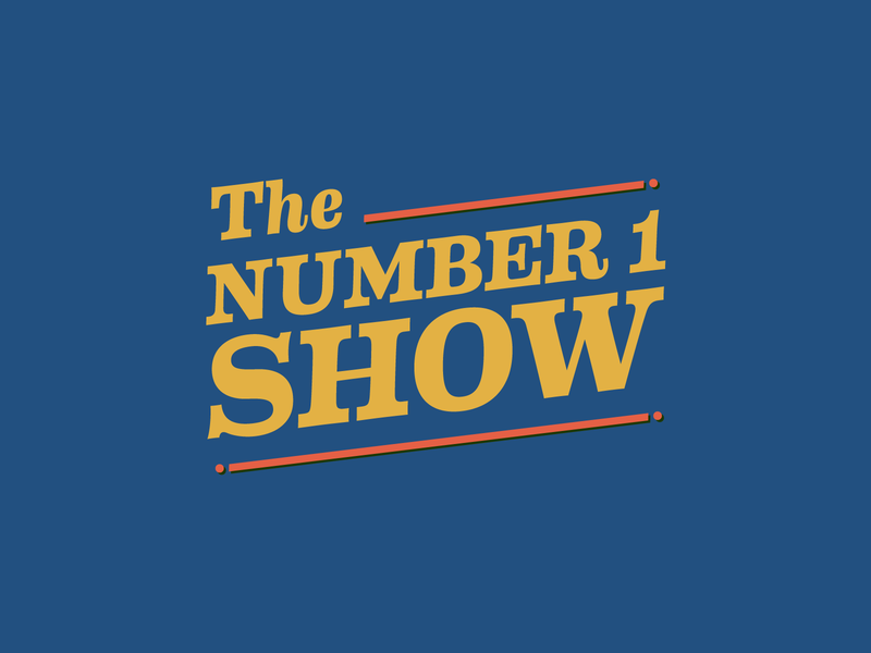 The Number 1 Show logo iconography twitch lockup brand identity logotype branding typography lettering